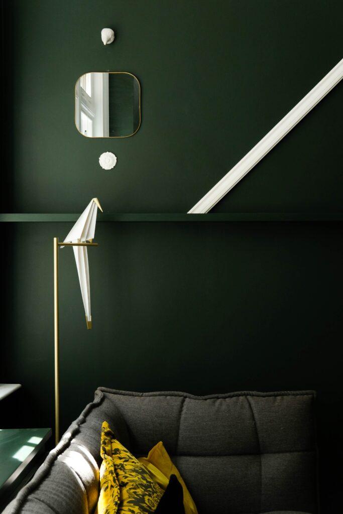 Grüne Wand, Interior, Design
